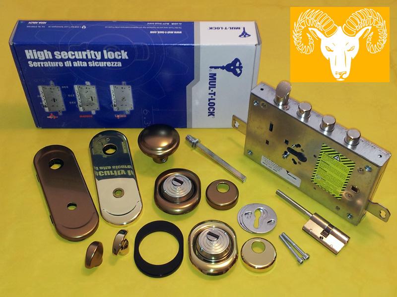 Kit serrature porte blindate vendita serrature porte for Serratura europea prezzi