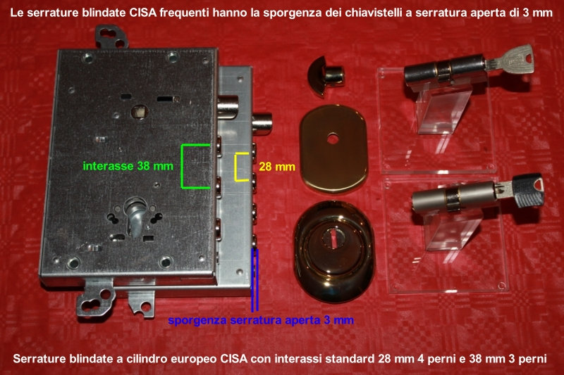 serrature cr per porte blindate Serrature mottura per porte blindate e cilindro europeo mottura per la realizzazione della conversione cisa, cr, ge, gn, gn1, matrix, mul-t-lock, sab.
