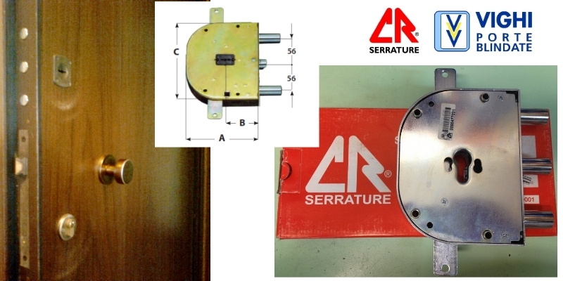 Serrature vighi porte blindate gn gn1 serratura cr se5c for Serrature per porte blindate